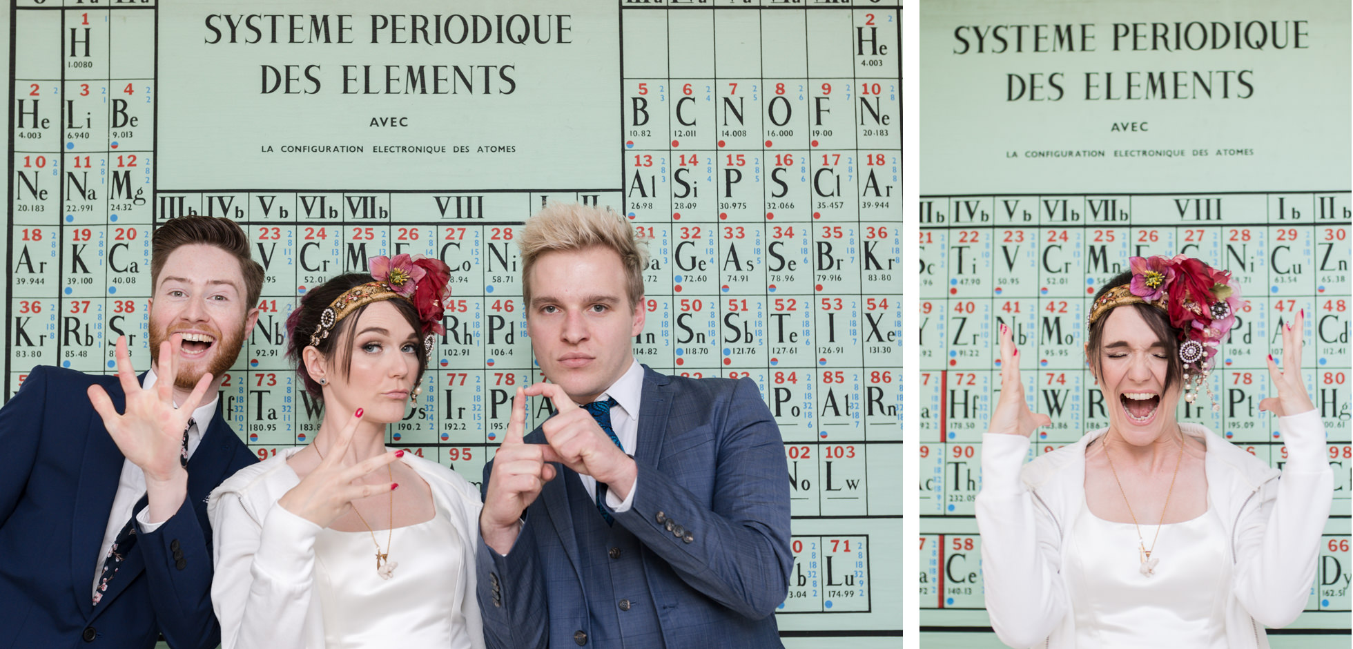 science themed wedding