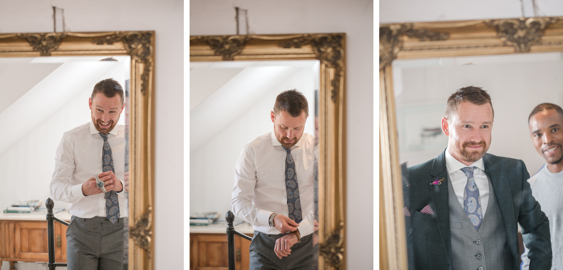 groom prep photos kent