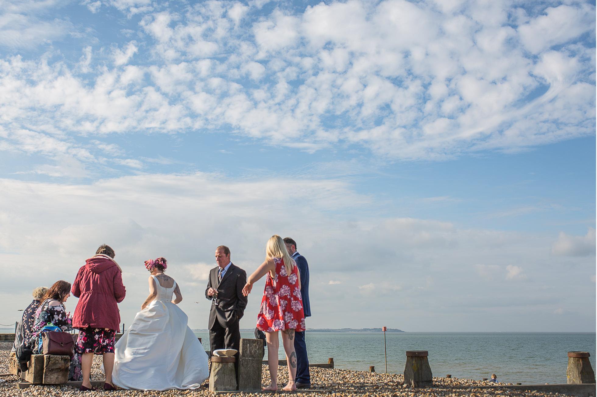 beach wedding whitsable