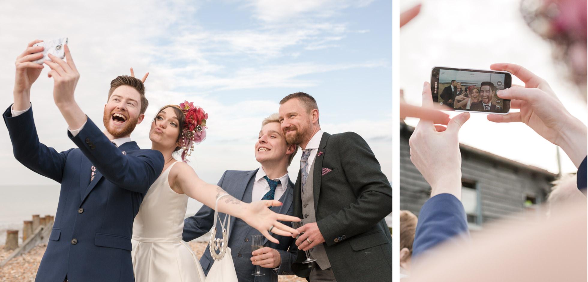 whist able beach wedding photos