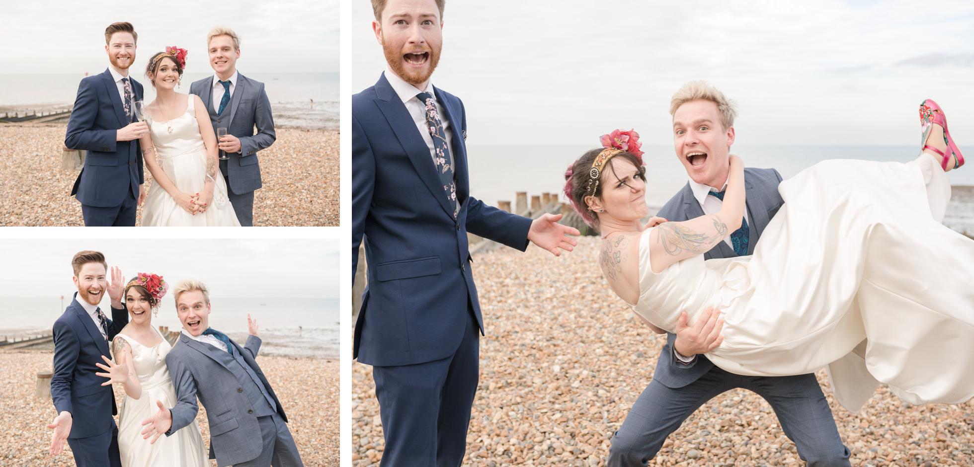 whitstable beach wedding photography