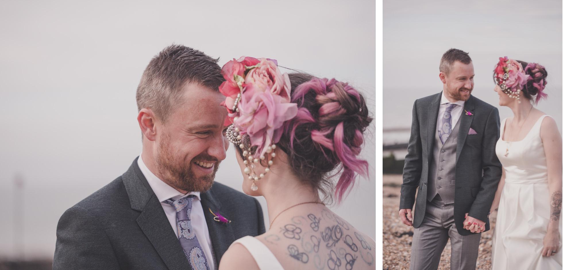 funky wedding photographer kent