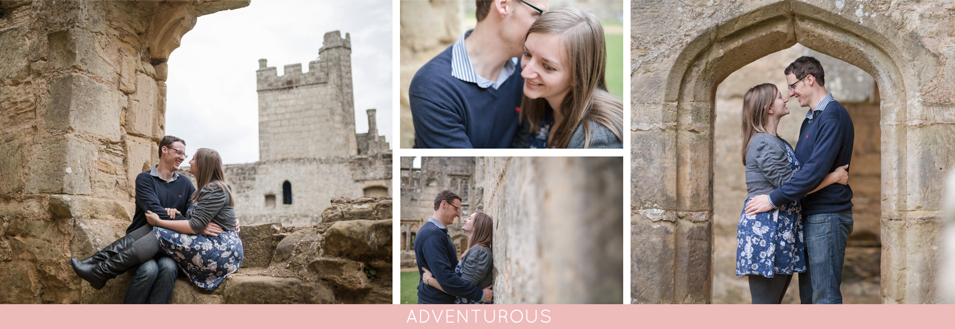 castle engagement photos