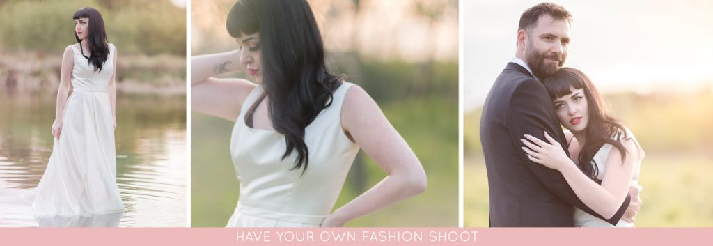 post-wedding photoshoot to wear your wedding dress again, rock the frock photographer
