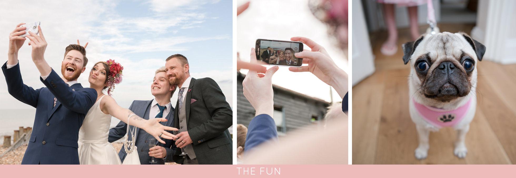 fun wedding in whitstable