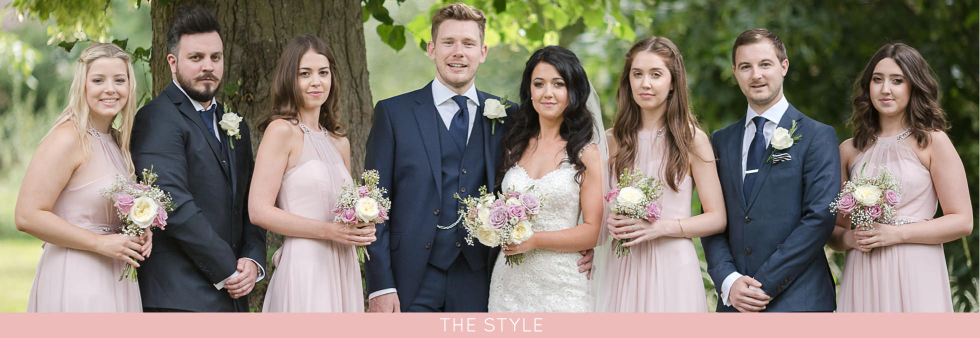 wedding style with pink colour scheme