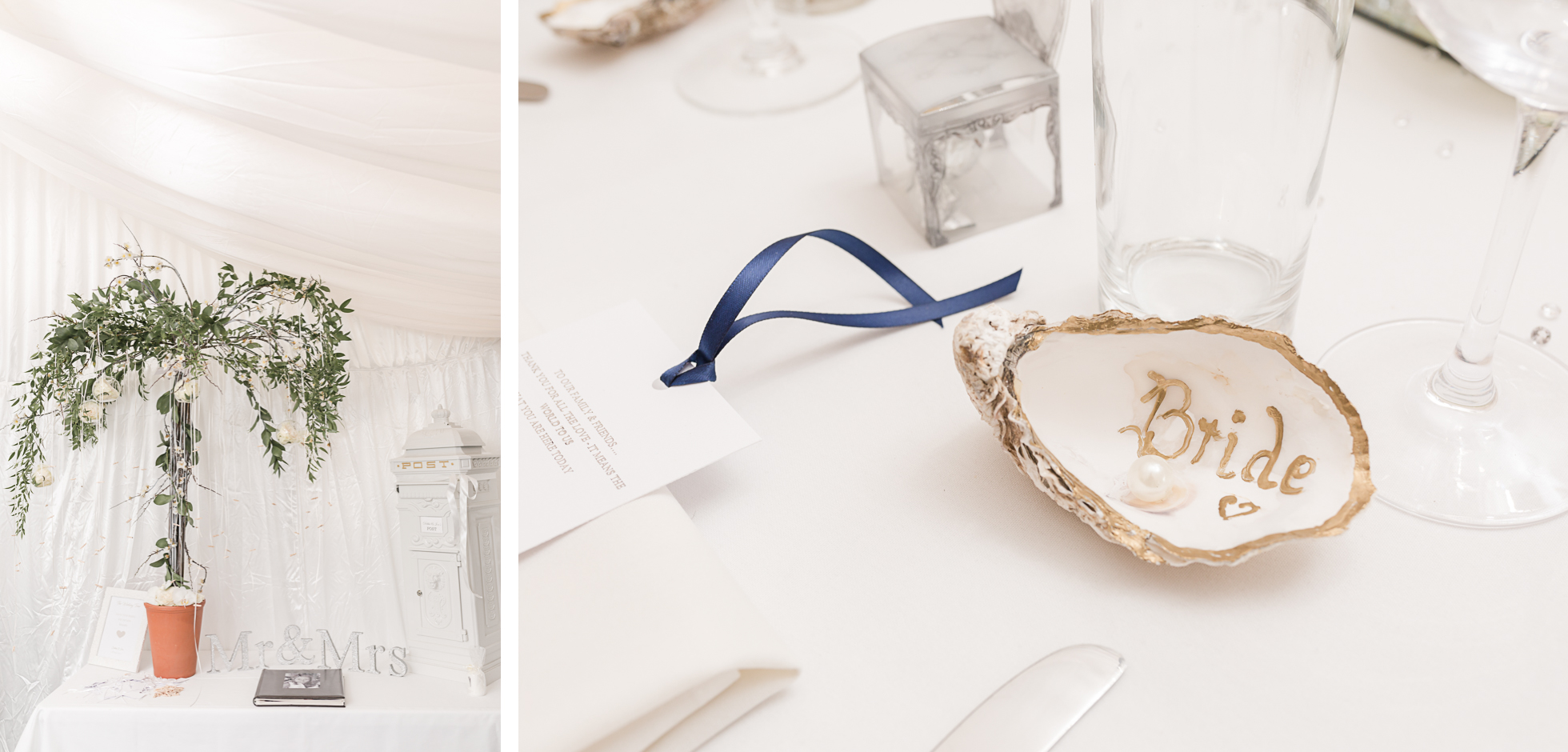 oyster shell place settings