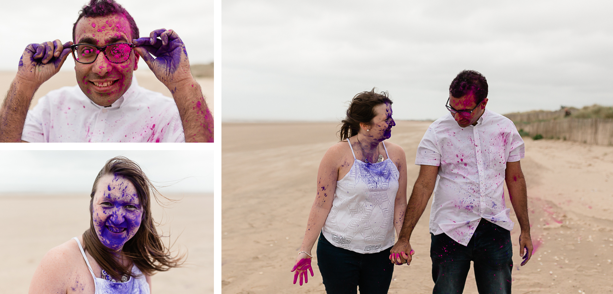 engagement session holi powder